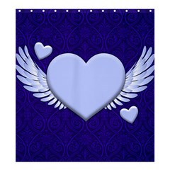 Background Texture Heart Wings Shower Curtain 66  X 72  (large)  by Sapixe