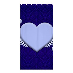 Background Texture Heart Wings Shower Curtain 36  X 72  (stall)  by Sapixe