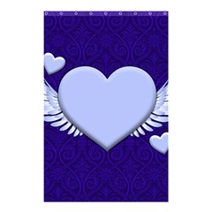 Background Texture Heart Wings Shower Curtain 48  X 72  (small)  by Sapixe