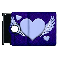 Background Texture Heart Wings Apple Ipad 2 Flip 360 Case by Sapixe
