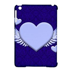 Background Texture Heart Wings Apple Ipad Mini Hardshell Case (compatible With Smart Cover) by Sapixe