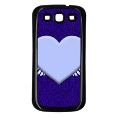 Background Texture Heart Wings Samsung Galaxy S3 Back Case (black)