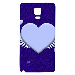 Background Texture Heart Wings Galaxy Note 4 Back Case by Sapixe