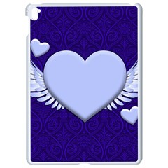 Background Texture Heart Wings Apple Ipad Pro 9 7   White Seamless Case