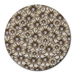 Background Flowers Round Mousepads by Sapixe
