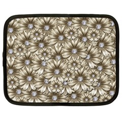 Background Flowers Netbook Case (xxl)  by Sapixe