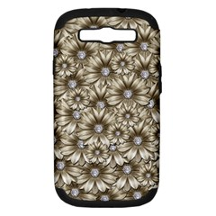 Background Flowers Samsung Galaxy S Iii Hardshell Case (pc+silicone)