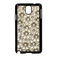 Background Flowers Samsung Galaxy Note 3 Neo Hardshell Case (black) by Sapixe