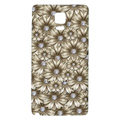 Background Flowers Galaxy Note 4 Back Case by Sapixe