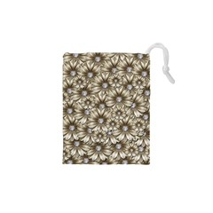 Background Flowers Drawstring Pouches (xs)  by Sapixe