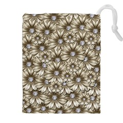 Background Flowers Drawstring Pouches (xxl)