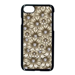 Background Flowers Apple Iphone 7 Seamless Case (black) by Sapixe