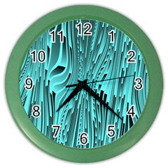 Design Backdrop Abstract Wallpaper Color Wall Clocks by Sapixe