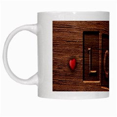 Background Romantic Love Wood White Mugs