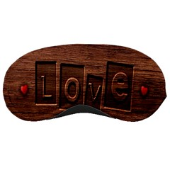 Background Romantic Love Wood Sleeping Masks by Sapixe