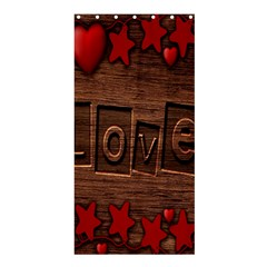 Background Romantic Love Wood Shower Curtain 36  X 72  (stall)