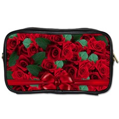 Floral Flower Pattern Art Roses Toiletries Bags 2 Side by Sapixe