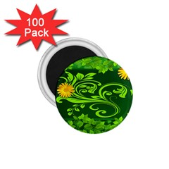 Background Texture Green Leaves 1 75  Magnets (100 Pack)