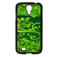 Background Texture Green Leaves Samsung Galaxy S4 I9500/ I9505 Case (black) by Sapixe