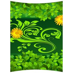 Background Texture Green Leaves Back Support Cushion