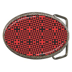 Abstract Background Red Black Belt Buckles