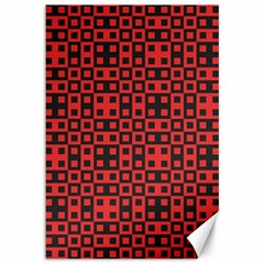 Abstract Background Red Black Canvas 12  X 18