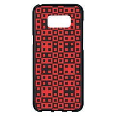 Abstract Background Red Black Samsung Galaxy S8 Plus Black Seamless Case