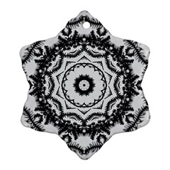 Abstract Pattern Fractal Snowflake Ornament (two Sides) by Sapixe