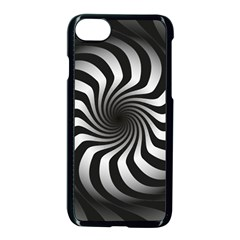 Art Optical Black White Hypnotic Apple Iphone 8 Seamless Case (black)
