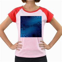 Background Brush Particles Wave Women s Cap Sleeve T Shirt