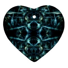 Abstract Fractal Magical Heart Ornament (two Sides)