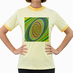 Ellipse Background Elliptical Women s Fitted Ringer T-shirts by Sapixe