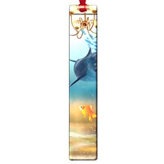 Dolphin Art Creation Natural Water Large Book Marks by Sapixe