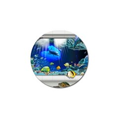 Dolphin Art Creation Natural Water Golf Ball Marker (10 Pack) by Sapixe