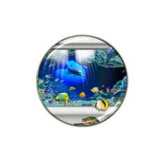 Dolphin Art Creation Natural Water Hat Clip Ball Marker (4 Pack)