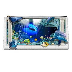 Dolphin Art Creation Natural Water Pencil Cases