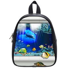 Dolphin Art Creation Natural Water School Bag (small) by Sapixe