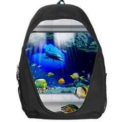 Dolphin Art Creation Natural Water Backpack Bag by Sapixe