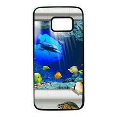 Dolphin Art Creation Natural Water Samsung Galaxy S7 Black Seamless Case
