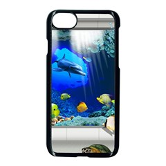 Dolphin Art Creation Natural Water Apple Iphone 7 Seamless Case (black) by Sapixe