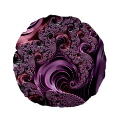 Purple Abstract Art Fractal Standard 15  Premium Flano Round Cushions by Sapixe