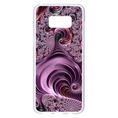 Purple Abstract Art Fractal Samsung Galaxy S8 Plus White Seamless Case
