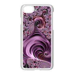 Purple Abstract Art Fractal Apple Iphone 8 Seamless Case (white)