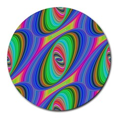 Ellipse Pattern Elliptical Fractal Round Mousepads