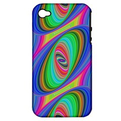 Ellipse Pattern Elliptical Fractal Apple Iphone 4/4s Hardshell Case (pc+silicone) by Sapixe