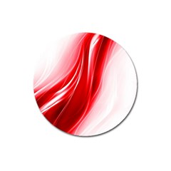 Flame Red Fractal Energy Fiery Magnet 3  (round) by Sapixe