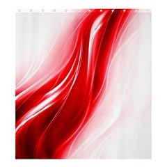 Flame Red Fractal Energy Fiery Shower Curtain 66  X 72  (large)