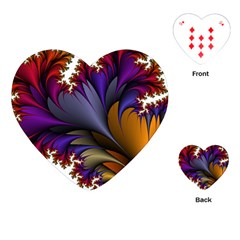 Flora Entwine Fractals Flowers Playing Cards (heart)  by Sapixe