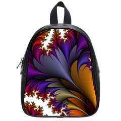 Flora Entwine Fractals Flowers School Bag (small) by Sapixe