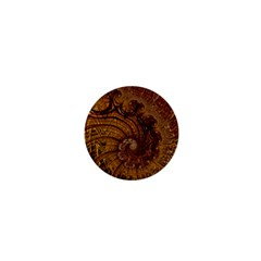 Copper Caramel Swirls Abstract Art 1  Mini Buttons by Sapixe